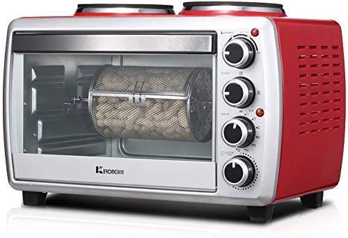 MYPNB 25L Mini-Backofen mit Dual-Brenner 800W und 1000W Desktop-Cooker 1800W Mehrere Kochen und Grillen Funktionen Temperatur-Einstellung 0-250 □ und 60 Minuten Timer