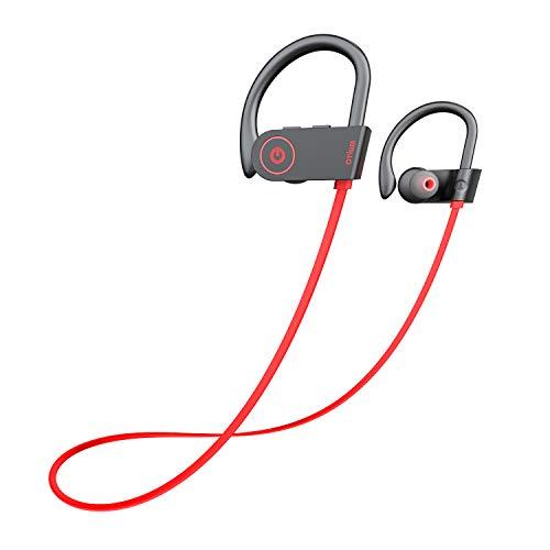 Bluetooth Headphones, Otium Best Wireless Sports Earphones W/Mic IPX7 Waterproof HD Stereo Sweatproof in Ear Earbuds Gym Running Workout 8 Hour Battery Noise Cancelling Headsets