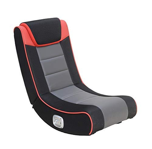 X Rocker Graphite 2.0 Bluetooth Wireless Foldable Rocking Video Gaming Floor Chair with 2 Speakers,...