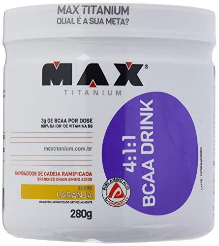 BCAA 4:1:1-280 g Drink, Max Titanium, Laranja