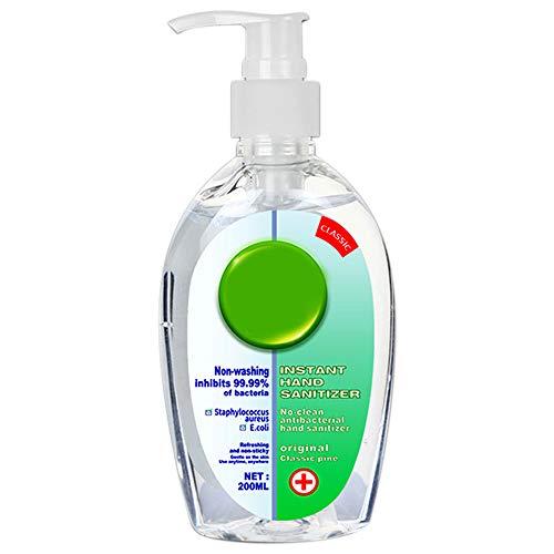 200ML Antibacterial Hygienic Hand Sanitizer Gel, Non-Rinse Hand Sanitizer Gel, Instant Hand Refreshing Gel,Hand Soap Kills Germs Effective 99.99%, Antibacterial Gel for Hands