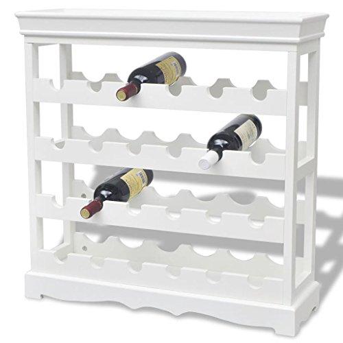 Tidyard Cantinetta Portabottiglie Vino Abreu Bianca,Mobile Porta Bottiglie Vino Bianco Moderno,Porta Bottiglie Vino Bianco Moderno,Porta Vino Bianco Modeno 70x22,5x70,5 cm