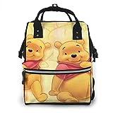 Winnie Pooh - Mochila de viaje multifunción impermeable para maternidad y bebé