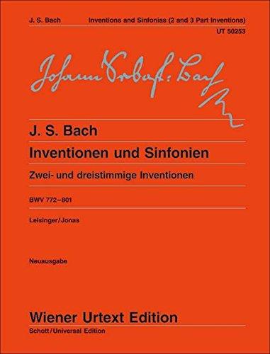 Inventionen Und Sinfonien Bwv 772-801 Piano (Wiener Urtext)