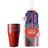 Pack de x20 Original Red Cups Officiels   Gobelets Américains 53cl Rouges   Beer Pong   Qualité Premium   Gobelets en Plastique Réutilisables   Lavables Main ou Lave-Vaisselle   OriginalCup®