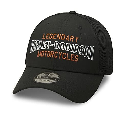 ハーレーダビッドソン 39THIRTY(R)キャップ - Legendary Motorcycles メンズ ブラック ファッション小物 帽子 キャップ メッシュ 99416-20VM (L)