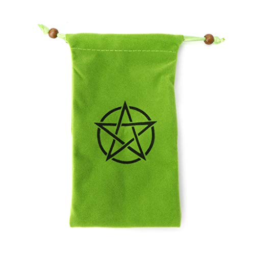 Gwxevce Velvet Pentagram Tarot Bolsa de Almacenamiento Tarjeta de Juego de Mesa Bordado Paquete de cordón