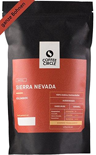 Coffee Circle   Premium Kaffee Sierra Nevada   350g ganze Bohne   Vollmundiger Bio Filterkaffee aus Kolumbien   100% Arabica   fair & direkt gehandelt   frisch & schonend geröstet