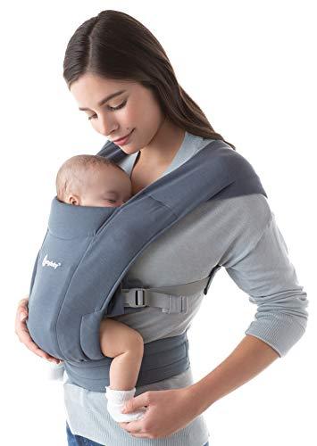 Ergobaby Embrace Marsupio Neonati Ergonomico 0 Mesi, Porta Bebe Extra Morbido ed Ultraleggero (Oxford Blue)
