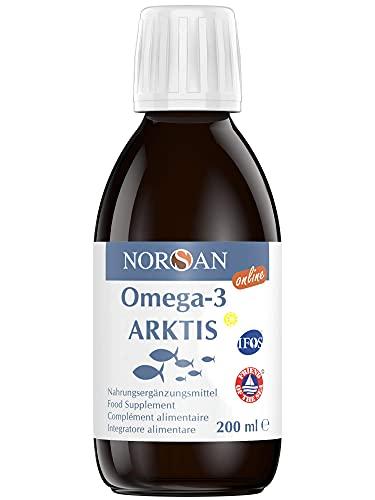 NORSAN Premium Omega 3 Dorschöl hochdosiert - 2000mg Omega 3 pro Portion - 4000 Ärzte empfehlen NORSAN Omega 3 Öl - 100% aus nachhaltigem Wildfang, kein Aufstoßen