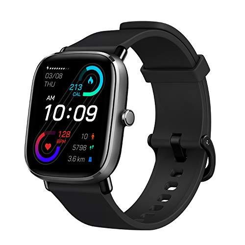 Amazfit Smartwatch GTS 2 Mini GPS Aktivitätstracker 1,55'' mit 70 Sportmodi, 14 Tagen Akkulaufzeit, Überwachung von SpO2, Herzfrequenz, Schlaf und Stress für Herren Damen