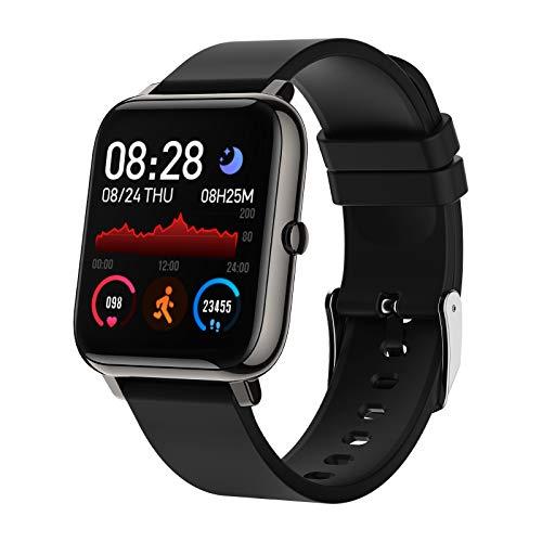 Montre Connectée Femmes Homme, Bozlun Montre Intelligente Etanche IP67, Smartwatch Sport GPS Cardio Fitness Tracker d'Activité Podometre Calories pour Android IOS (Noir)