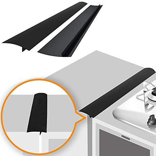 Linda's Silicone Stove Gap Covers (2 Pack), Heat Resistant Oven Gap Filler Seals Gaps Between Stovetop and Counter,...