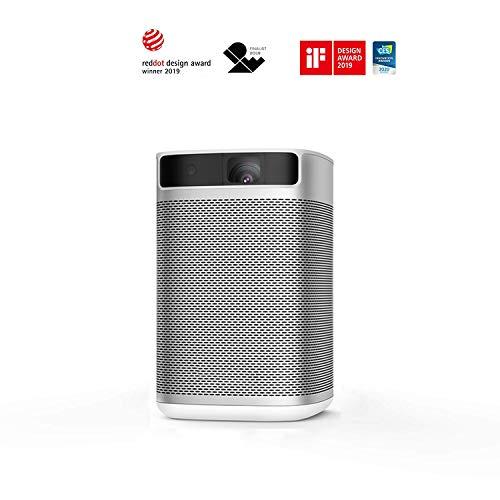 XGIMI MoGo Pro Android TV Projector,1080P Full HD Mini Smart Projector,Portable WiFi/Bluetooth Harman/Kardon Speaker,300 ANSI Lumen Indoor/Outdoor Theater Native Android 9.0 Video Projector