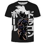 T-Shirt Homme Harajuku Anime Dragon Ball Z DBZ Goku Imprimer 3D T-Shirt Hommes...