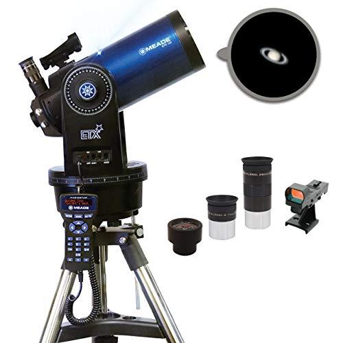 Meade Instruments Observer - Telescopio de Refractor cromático con trípode de Campo Ajustable, oculares y Mochila