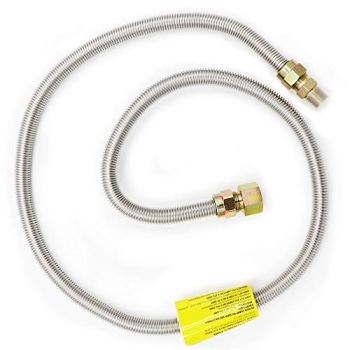 Appliance Pros 1/2 I/D, 5/8 O/D Gas Stove Flexible Hose Gas Line, Braided Stainless Steel, Fit Most Range and Grill Models 1/2 MIP x 3/4 FIP, 60 inch