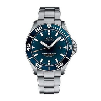 Mido Men's Ocean Star Diver 43.5mm Steel Bracelet & Case Automatic Blue Dial Watch M026.608.11.041.00