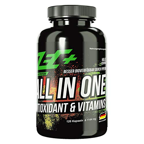 ZEC+ ALL in ONE Antioxidantien & Vitamine - 120 Kapseln, Multivitamin-Präparat mit Kombination aus Vitaminen, Mineralstoffen, Spurenelementen und OPC-Traubenkernextrakt