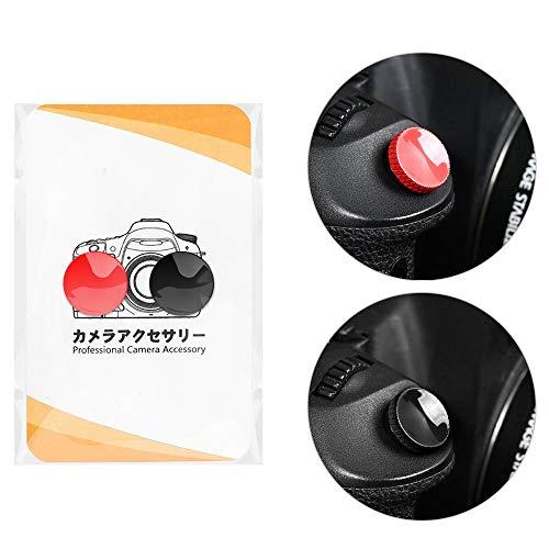 ORMY 黄銅製 カメラ シャッターボタン レリーズボタン SONY ZV-1 / RX100 M7 / α7SIII / α7RVI / α7III Canon EOS R / R6 / R5 / 5D MarkIV / 5D MarkIII / M6 MarkII などほぼ全機種対応 【国内正規品】 (粘着タイプ2個入り(赤・黒))