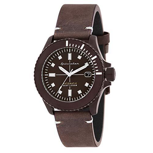 SPINNAKER Spence Herren-Armbanduhr 41.5mm Armband Leder Automatik SP-5063-02