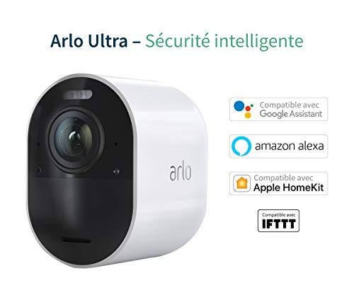 416MviluS5L [Bon plan Arlo !  Arlo Ultra   4K HDR Caméra Additionnelle avec éclairage Intégré, Rechargeable, sans Fils, Audio Bi-Directionel, Éta...