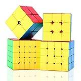 ROXENDA Speed Cube Ensemble Moyu 2x2 3x3 4x4 5x5 Cube Magique Brillant sans...