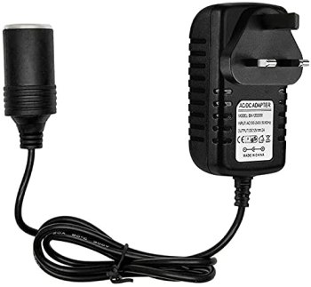 DOLILO Car Adapter to Plug Socket, 240v to 12v Adapter 2A Safety Voltage Suitabe for Car MP3, Car Fan, Humidifier and Other Car Electronics Equipment (Rated Power: 24W)