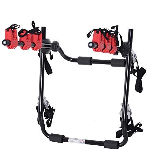 homcom Portabici Posteriore per Auto capacit 3 Biciclette 40 kg Pieghevole in Acciaio e Alluminio,...