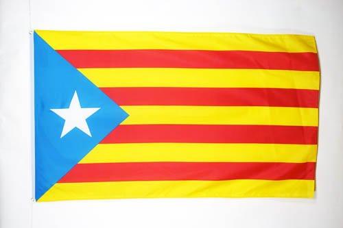 AZ FLAG Bandera de CATALUÑA ESTELADA BLAVA 150x90cm - Bandera CATALANA INDEPENDENTISTA – Catalunya 90 x 150 cm poliéster Ligero