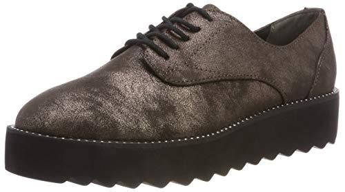 Tamaris 23734-21, Zapatos de Cordones Oxford Mujer, Marrón (Pewter Antic 937), 42 EU