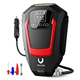 VacLife Air Compressor Tire Inflator, Auto Touchscreen DC 12V Air Pump for Car Tires, Bicycles and Other Inflatables, Portable Air Compressor with LED Light & 9.1 Ft Long Power Cord, Red (VL721)