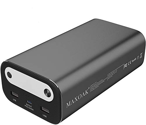 AC Outlet Portable Laptop Charger (TSA-Approved), MAXOAK 99Wh/26756mAh 100W Travel Laptop Power Bank & 45W PD USB-C External Laptop Battery Pack for Notebook Dell HP, MacBook, iPhone, Lighting-Bluetti