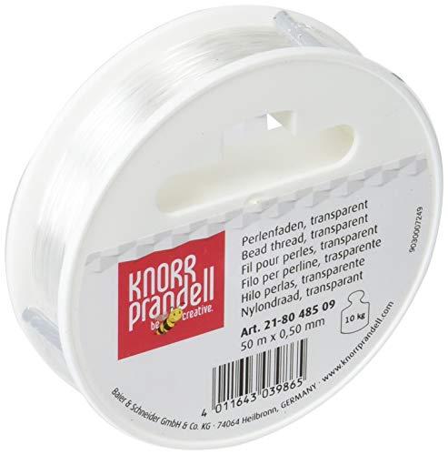 Gtermann / KnorrPrandell 8048509 - Filo perlon 0,50mm , 50 metri, colore: Trasparente