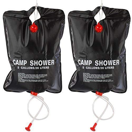 JVSISM 2 x 20L Sac de Douche Camping Portable Solaire Chauffe Sac de Douche...