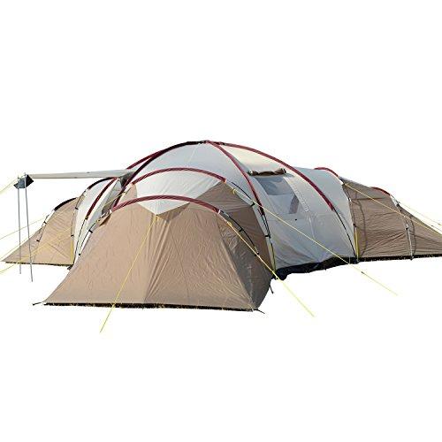 Skandika Turin 12 – Tente Camping Familiale 12 Personnes - 840x720x200cm...