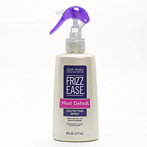John Frieda Frizz Ease Heat Defeat Protecting Spray, 6 Ounces, Thermal Protector, Formulated with Nourishing Jojoba Oil and Aloe Leaf