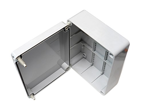 Scatola di giunzione con coperchio a cerniera, 240 x 190 x 90mm, impermeabile, IP56,in plastica PVC, adattabile, cavo elettrico di collegamento per illuminazione esterna