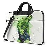 Hdadwy Funda para portátil de 14 Pulgadas, maletín para Ordenador portátil de Acuarela Hulk, Bandolera, Bandolera, Funda