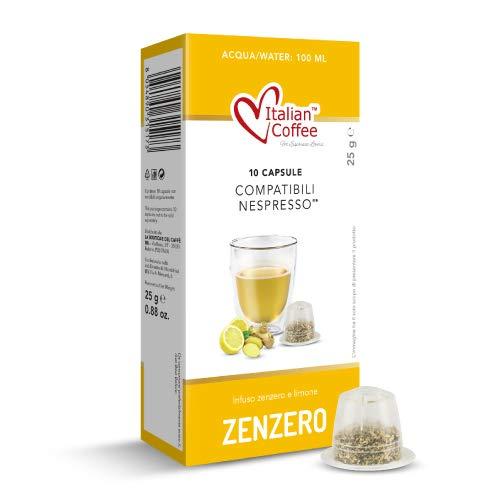 60 Capsule infuso zenzero e limone vitalità compatibili Nespresso* Italian Coffee