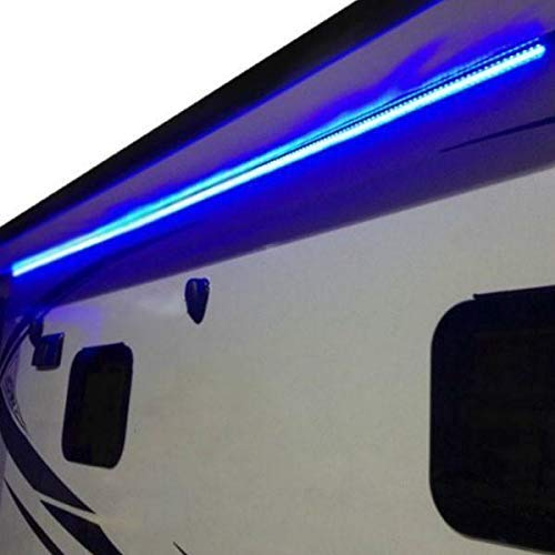 RecPro RV Blue LED Awning Party Light 12V | Mounting Channel |...