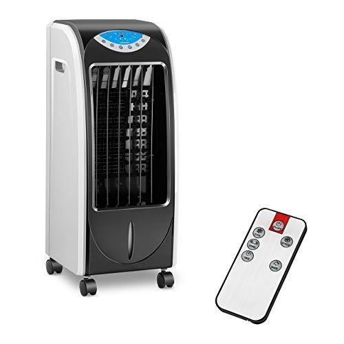 Uniprodo Rafraichisseur D'Air Évaporatif Refroidisseur Portatif Ventilateur Sans Évacuation UNI_COOLER_02 (3-En-1, 6 L, Télécommande, Minuterie)