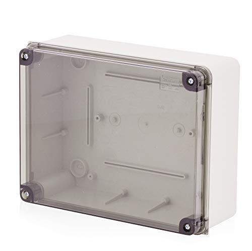 Scatola di montaggio a parete, scatola di derivazione Scatola di plastica con vite | 240x190x90mm | IP65 | coperchio trasparente Scatola di distribuzione Scatola di distribuzione Scatola vuota Scatola industriale, scatola di derivazione, armadio elettrico
