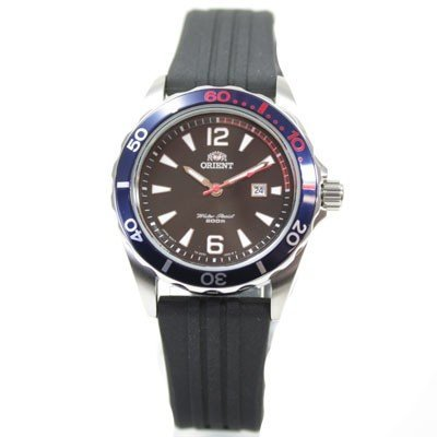 ORIENT Uhr Sport Deep Diver Quarz Damenuhr Datum black Kautschuk FSZ3V003B0