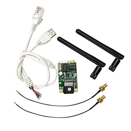 Solustre WAN Ethernet Modulo di Controllo Scheda 2.4G Mini Porta 14 Canali Rel Integrato per...