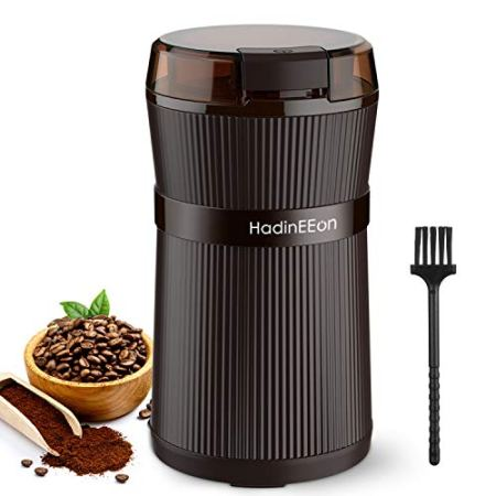 HadinEEon 200W Kaffeemühle Elektrische mit Edelstahl-Schüssel