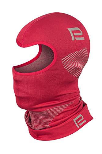 Prosske Passamontagna Thermo Xtreme 2.0 per donna, uomo, bambino, ragazzo, cappa da sci Balaclava (rosso-grigio, XL/XXL)