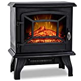20'H Electric Fireplace Heater,Portable Freestanding Fireplace Stove Space Heater Thermostat CSA...