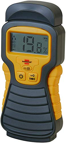 Brennenstuhl Moisture Detector MD (Moisture Meter for Wood/Walls/Building Material, with LCD Display) Anthracite/Yellow