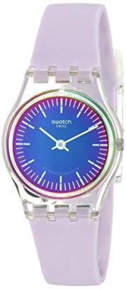 Swatch Women's 1904 Energy Boost Quartz Silicone Strap, Purple, 12 Casual Watch (Model: LK390)
